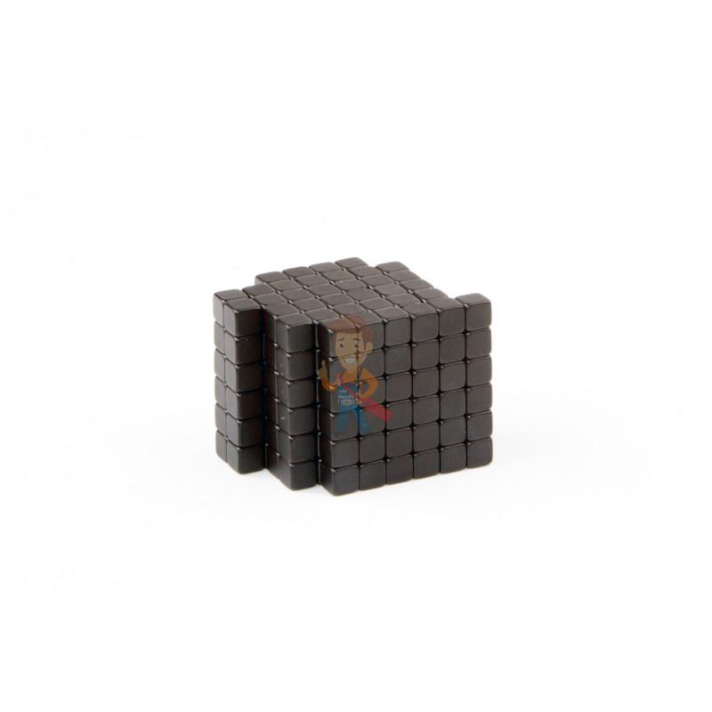 Forceberg TetraCube - куб из магнитных кубиков 4 мм, черный, 216 элементов - фото 1