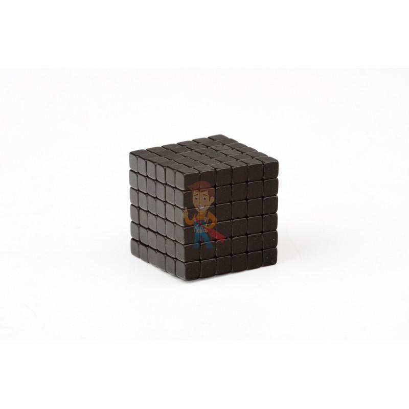 Forceberg TetraCube - куб из магнитных кубиков 4 мм, черный, 216 элементов