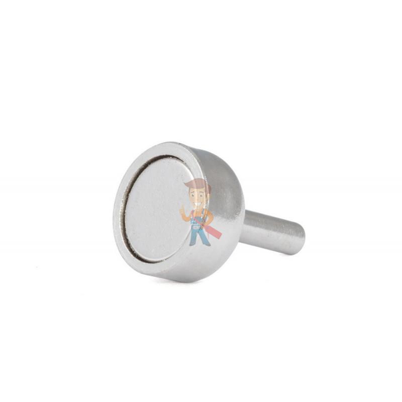 Магнитное крепление D10 со стержнем - подставка на магните для топпера, ценников, рамок, плакатов - фото 1