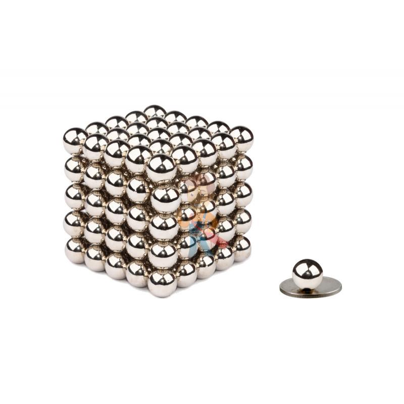 Forceberg Cube - Куб из магнитных шариков 10 мм, стальной, 125 элементов - фото 1