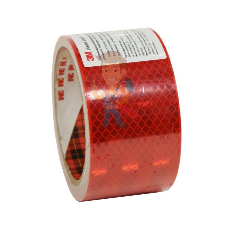 Лента светоотражающая 3M 983-72, алмазного типа, красная, 53,5 мм х 5 м - фото 4