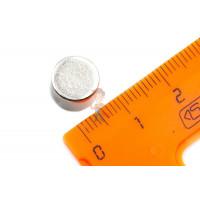 Магнитная застежка 12х2 мм с ПВХ - Неодимовый магнит диск 10х7 мм, N35