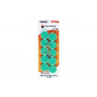 Магнит для магнитной доски Forceberg 30 мм, синий, 10шт. - Магнит для магнитной доски Forceberg 30 мм, зеленый, 10шт.