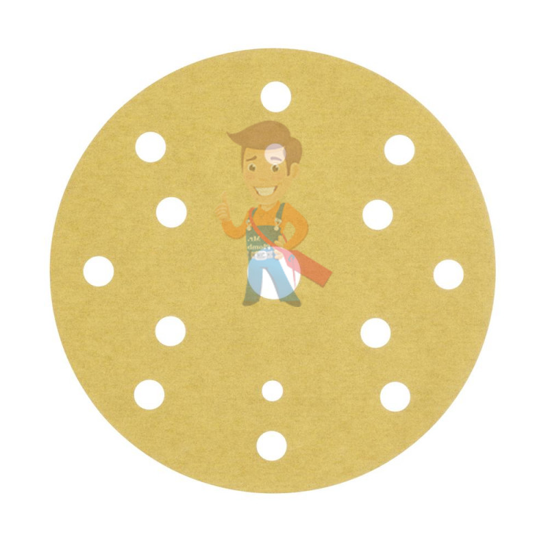 Круг Абразивный, золотой, 15 отверстий, Р600, 150 мм,3M Hookit 255P+ 10 шт/уп. - фото 3