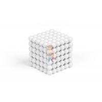 Forceberg Cube - куб из магнитных шариков 6 мм, синий, 216 элементов - Forceberg Cube - куб из магнитных шариков 5 мм, белый, 216 элементов