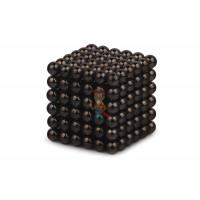 Forceberg Cube - куб из магнитных шариков 2,5 мм, оливковый, 512 элементов - Forceberg Cube - куб из магнитных шариков 5 мм, черный, 216 элементов