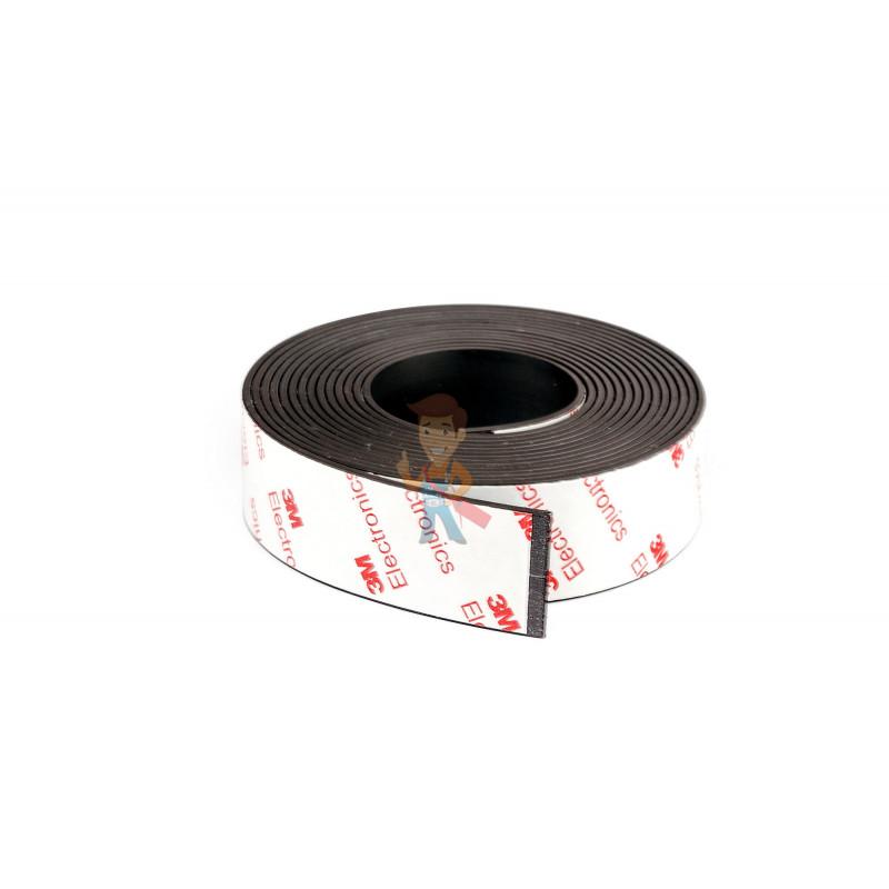 Магнитная лента Forceberg с клеевым слоем 3М 25.4 мм, рулон 3 м, тип А