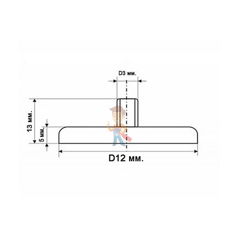 Магнитное крепление под болт К-12 (М3) - фото 4