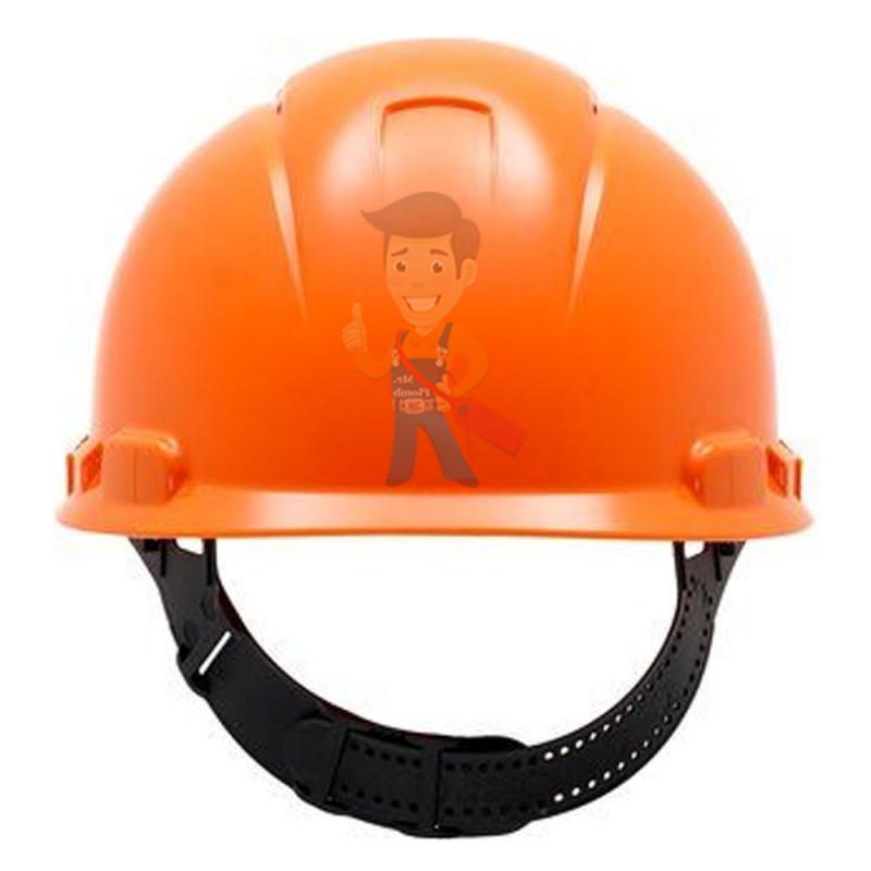 Каска защитная с вентиляцией, стандартное оголовье, оранжевая - фото 3