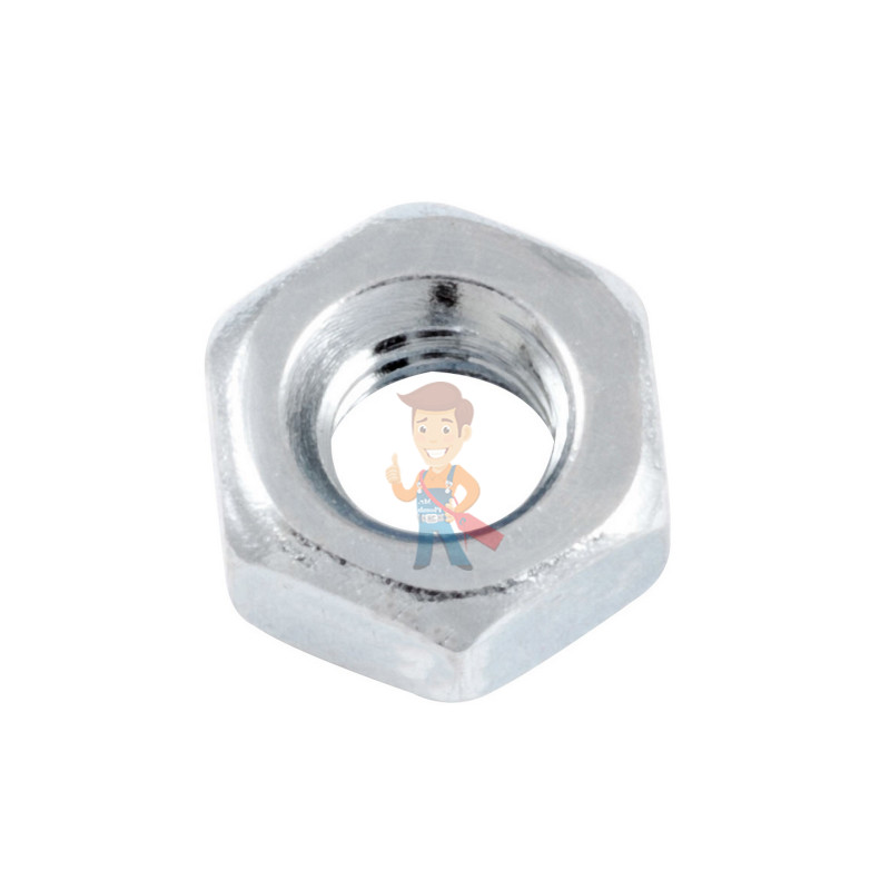 Гайка М4 шестигранная оцинкованная ГОСТ 5915-70 (DIN 934) Forceberg Home&DIY, 50 шт - фото 1