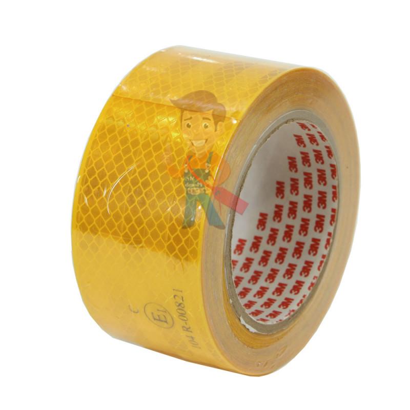 Лента светоотражающая 3M 983-71, алмазного типа, желтая, 53,5 мм х 10 м
