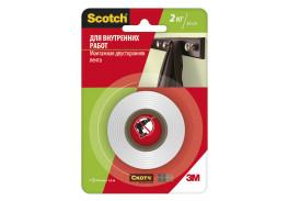 Клейкая монтажная лента Scotch® для внутренних работ, 19 мм х 1,5 м