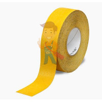Лента контурная маскирующая 471+,  6 мм х 33 м - Лента Противоскользящая формуемая желтая, размер 51 мм x 18.3 м