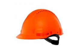 Каска защитная c вентиляцией, стандартное оголовье, УФ индикатор, оранжевая