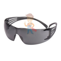 Cалфетки очищающие 3M, для ухода за очками, 100 шт. в индивидуальных упак. - Открытые защитные очки, с покрытием AS/AF против царапин и запотевания, серые