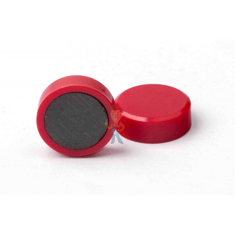 Магнит для магнитной доски FORCEBERG 20 мм, красный, 10шт. - фото 1