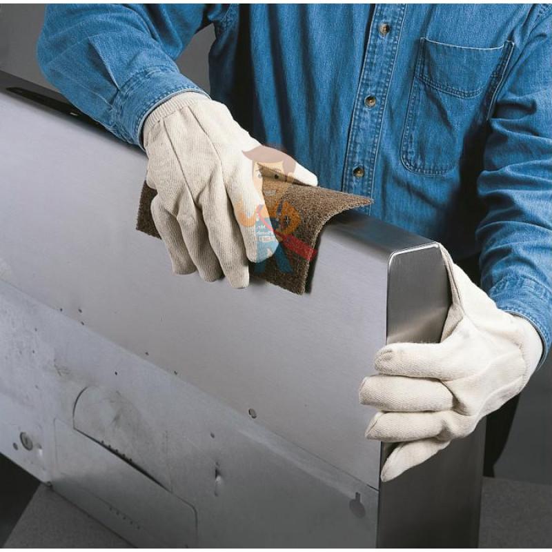 Лист шлифовальный для удаления сильных загрязнений A MED коричневый 158 мм х 224 мм - фото 1