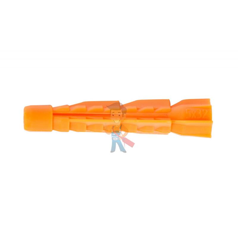 Дюбель универсальный Forceberg Home&DIY (тип U) 5х32 мм, для кирпича, газобетона, гипсокартона, 40 шт - фото 1