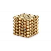 Forceberg Cube - куб из магнитных шариков 7 мм, стальной, 216 элементов - Forceberg Cube - куб из магнитных шариков 6 мм, золотой, 216 элементов
