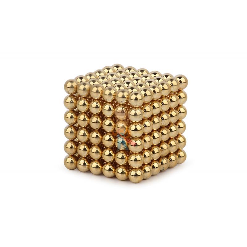 Forceberg Cube - куб из магнитных шариков 6 мм, золотой, 216 элементов