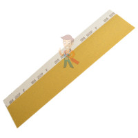 Лист абразивный 401Q, микротонкий, 1500А, 138 мм х 230 мм, Wetordry™ - Полоска 255Р Hookit™, абразивная, золотая, Р80, 70мм х 425мм