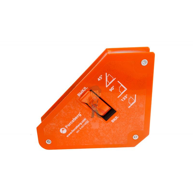 Магнитный уголок для сварки отключаемый для 3-х углов Forceberg, усилие до 24 кг