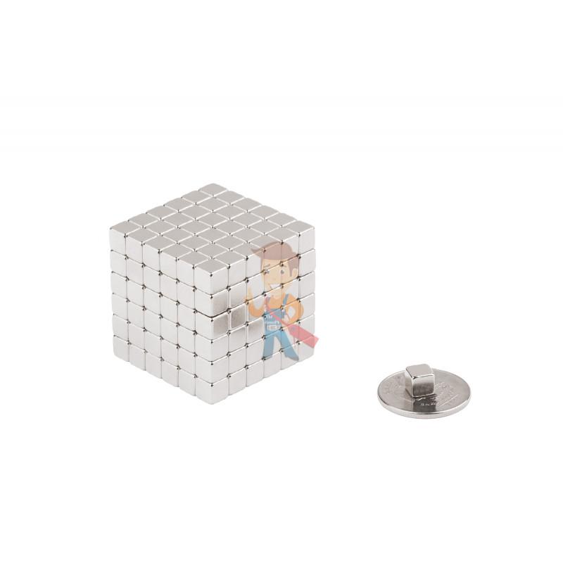 Forceberg TetraCube - куб из магнитных кубиков 4 мм, жемчужный, 216 элементов - фото 2