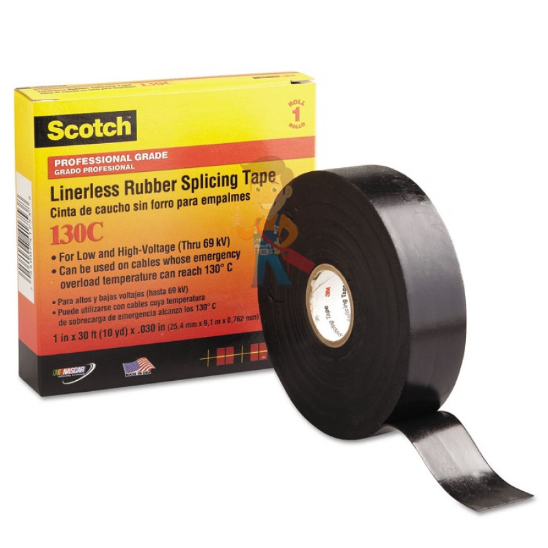 Изолента самослипающаяся резиновая Scotch® 130C, 25 мм х 9,1 м