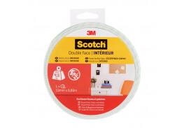 Клейкая лента монтажная 3М Scotch, для внутренних работ, двусторонняя, белая, 19 мм х 1,5 м
