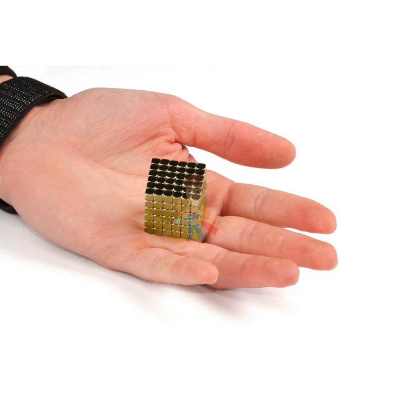 Forceberg TetraCube - куб из магнитных кубиков 6 мм, золотой, 216 элементов - фото 3
