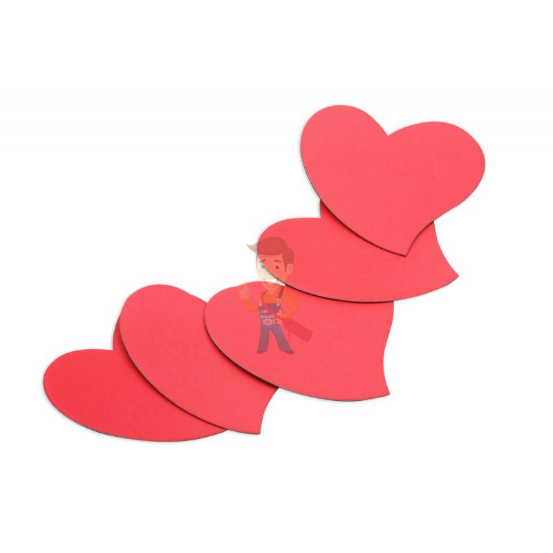 Магниты-сердечки, Forceberg, комплект из 5 шт