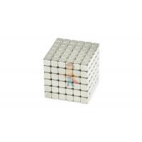 Forceberg Cube - куб из магнитных шариков 6 мм, белый, 216 элементов - Forceberg TetraCube - куб из магнитных кубиков 5 мм, жемчужный, 216 элементов