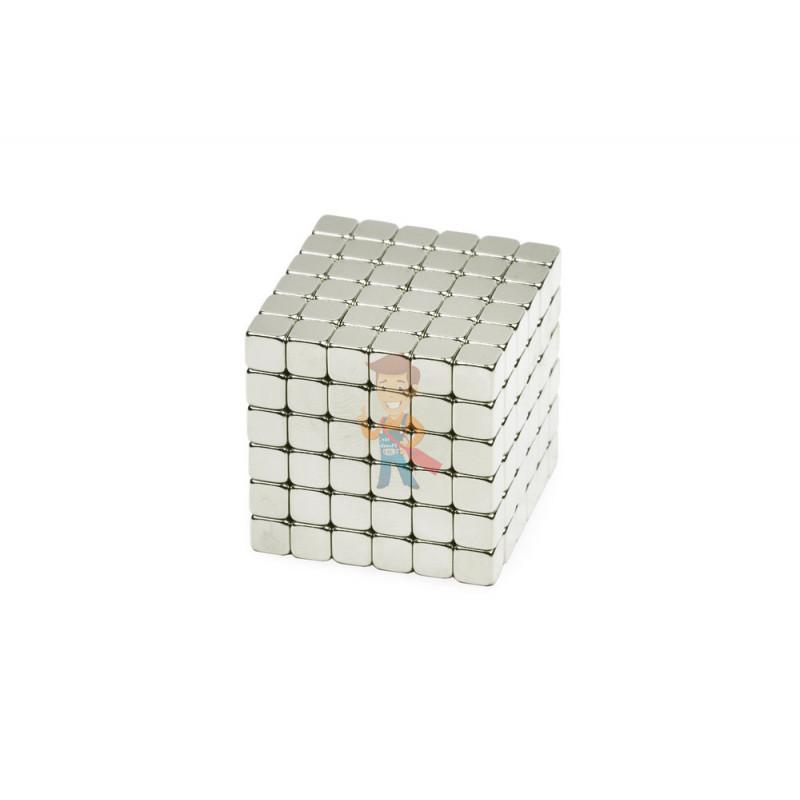 Forceberg TetraCube - куб из магнитных кубиков 5 мм, жемчужный, 216 элементов