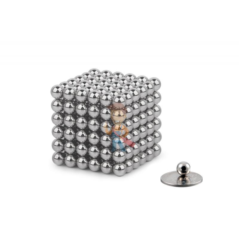Forceberg Cube - куб из магнитных шариков 7 мм, стальной, 216 элементов - фото 1