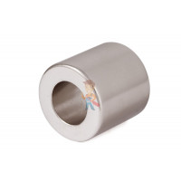 Магнитная застежка 10х2 мм с ПВХ - Неодимовый магнит кольцо 22х12х22 мм, N35UH