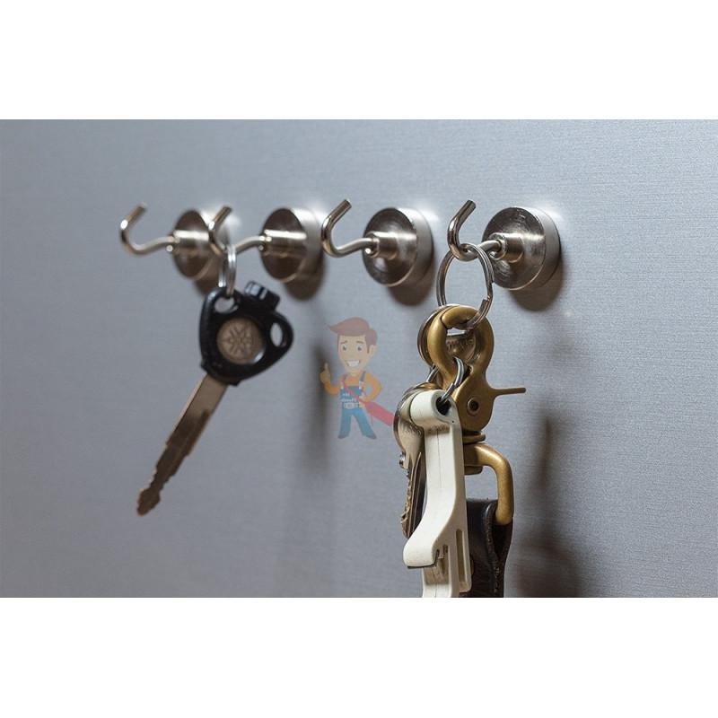 Крючки на неодимовом магните Forceberg Е16 (М4), сила сц. 4 кг, 6 шт. - фото 5