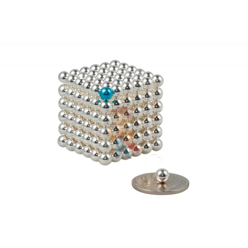 Forceberg Cube - куб из магнитных шариков 5 мм, жемчужный, 216 элементов - фото 1
