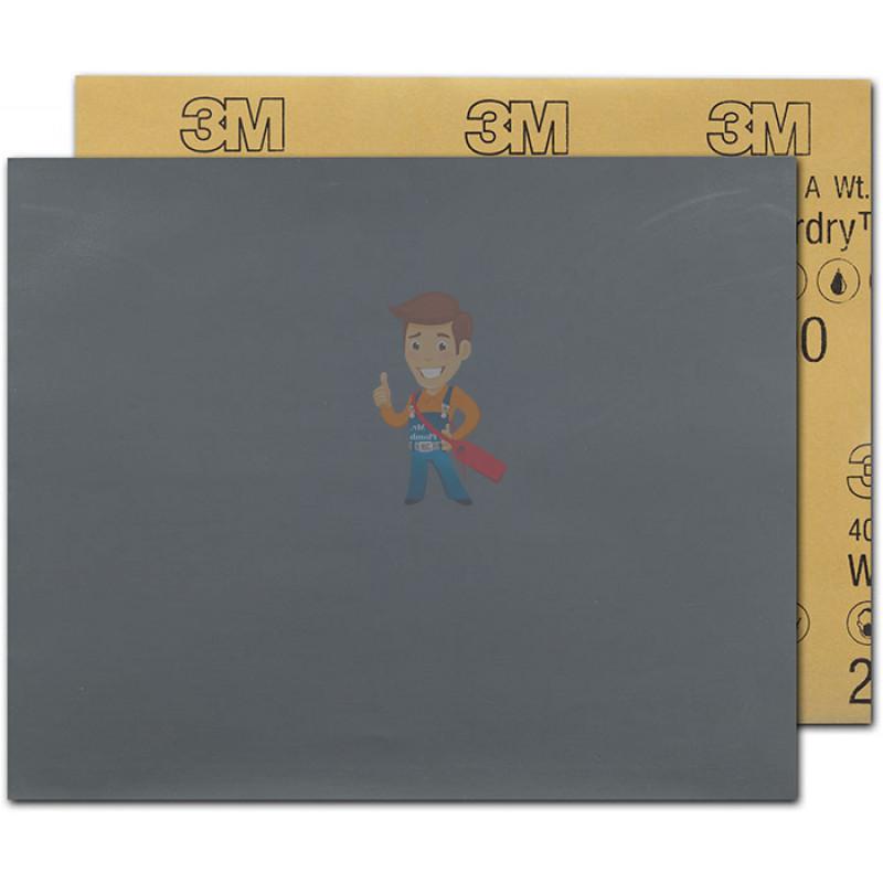 Лист Абразивный, микротонкий, 2000А, 138 мм х 230 мм, 3M Wetordry 401Q, 10 шт/уп - фото 1