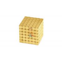 Forceberg TetraCube - куб из магнитных кубиков 6 мм, черный, 216 элементов - Forceberg TetraCube - куб из магнитных кубиков 4 мм, золотой, 216 элементов