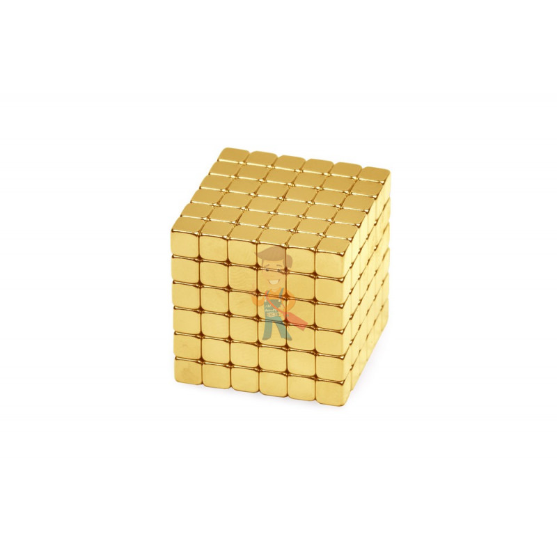 Forceberg TetraCube - куб из магнитных кубиков 4 мм, золотой, 216 элементов