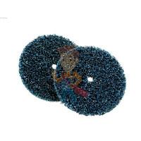 Круг лепестковый торцевой  шлифовальный конический 967A, 125 мм х 22 мм, 40+ - Круг для очистки поверхности CG-DС, S XCS, голубой, 100 мм х 13 мм, 2 шт/уп.