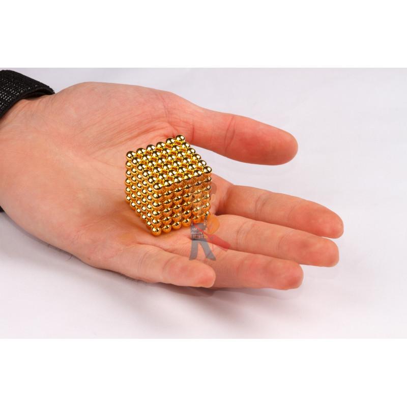 Forceberg Cube - куб из магнитных шариков 6 мм, золотой, 216 элементов - фото 2
