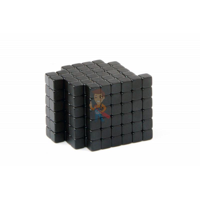 Forceberg TetraCube - куб из магнитных кубиков 6 мм, черный, 216 элементов - фото 1