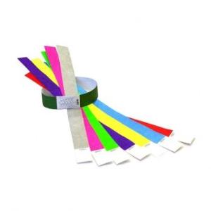 Бумажные браслеты цветные - фото